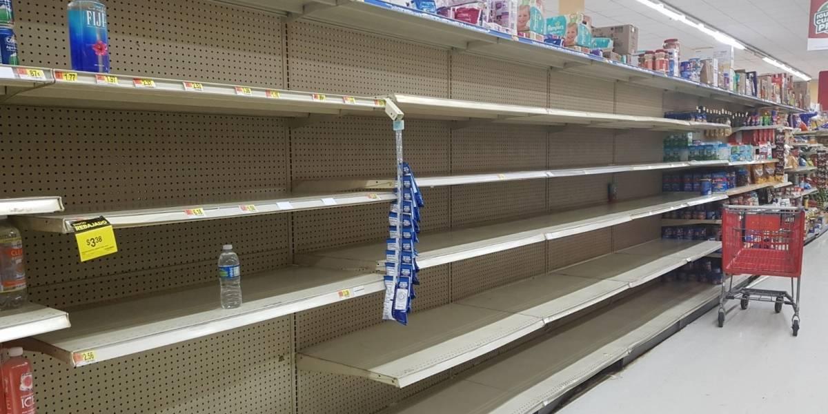 Fotogalería: Así terminaron las góndolas de un supermercado por preparativos de Irma
