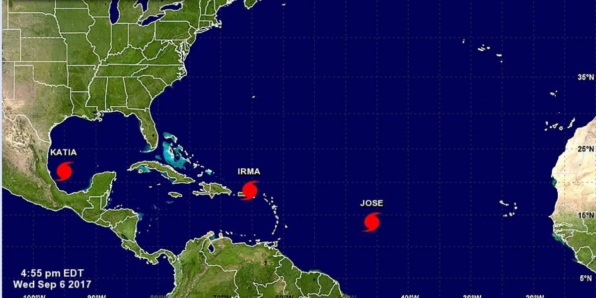 Tormentas 'Katia' y 'José' se unen a 'Irma' como huracanes en el Atlántico