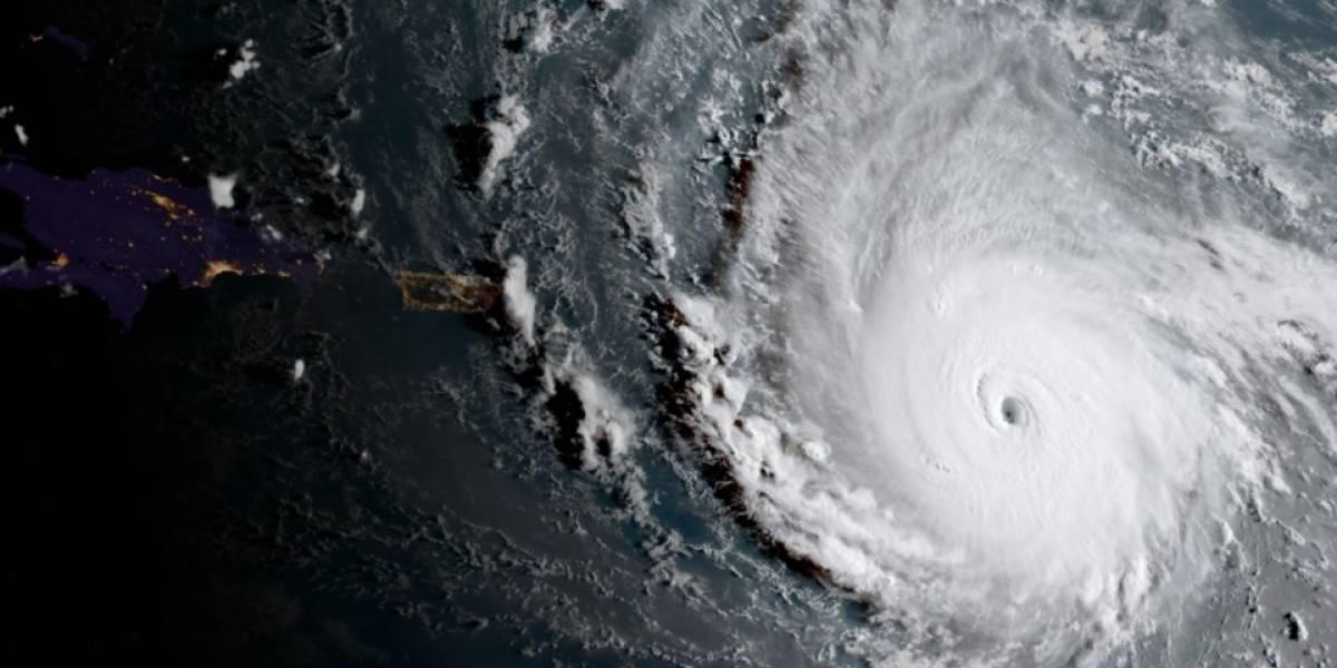 Impresionante imagen de Irma cerca de Puerto Rico