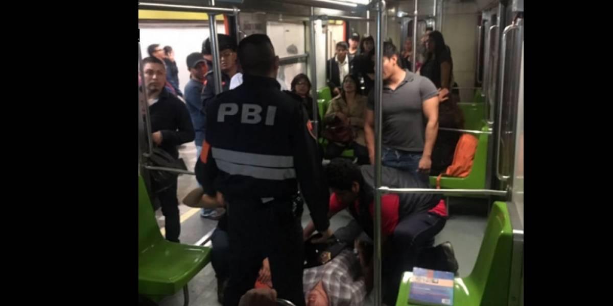 Hombres bajan a vías del Metro para huir tras riña en L3