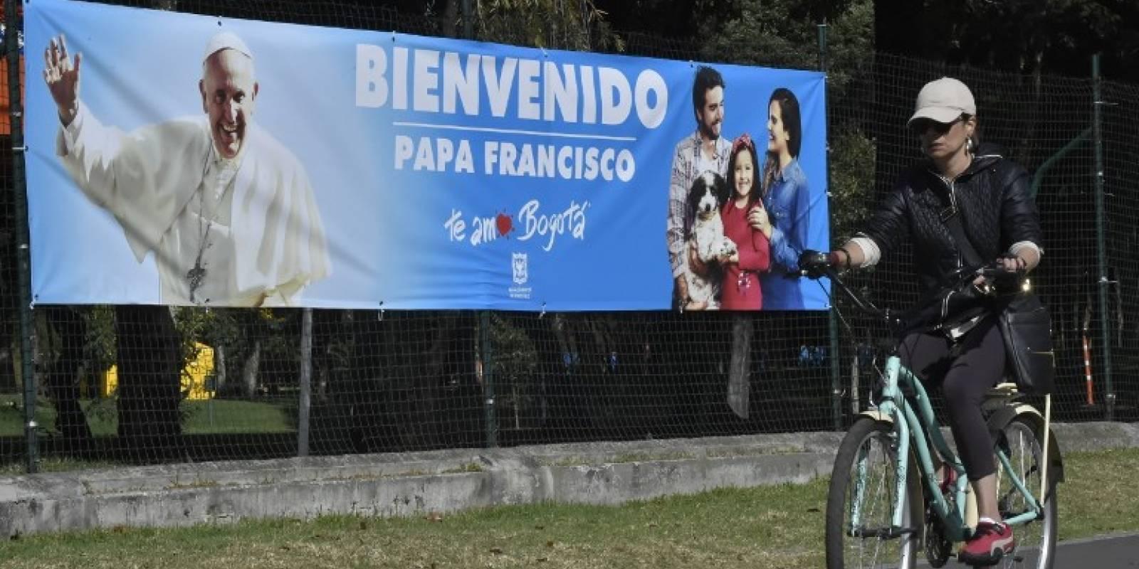 Bienvenida al papa Francisco en Colombia