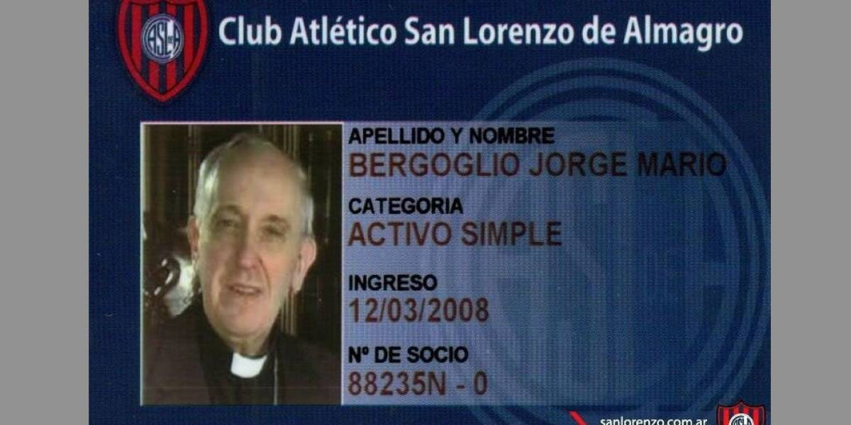 El papa Francisco ama a Dios, a la humanidad y al Club Atlético San Lorenzo