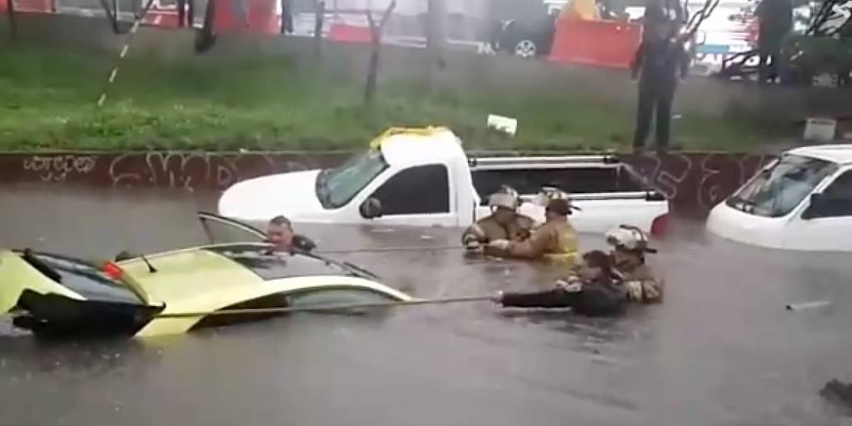 Lluvia inunda el sur de la CDMX
