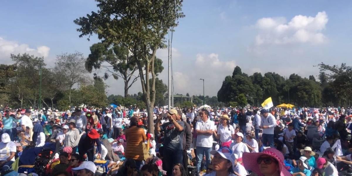 Fotos: así se ve el parque Simón Bolívar horas antes de la misa del papa Francisco