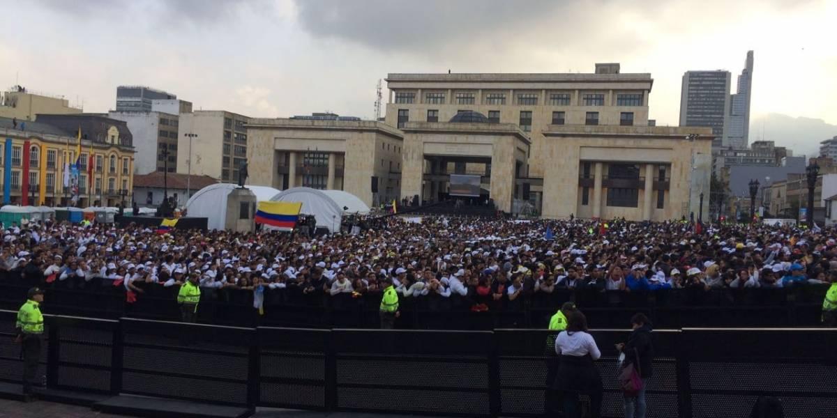 Fotos: así se ve la Plaza de Bolívar a una hora de la llegada del papa Francisco
