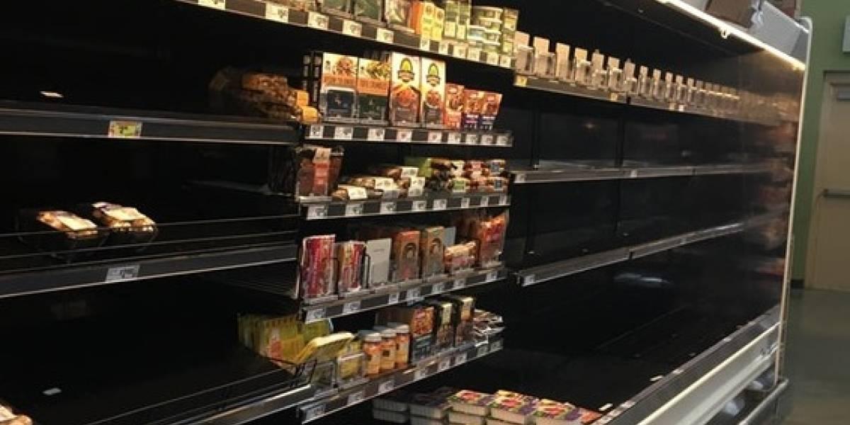 """""""Incluso en un desastre nadie quiere la comida vegana"""": la foto de un supermercado que se volvió viral tras paso de huracán"""