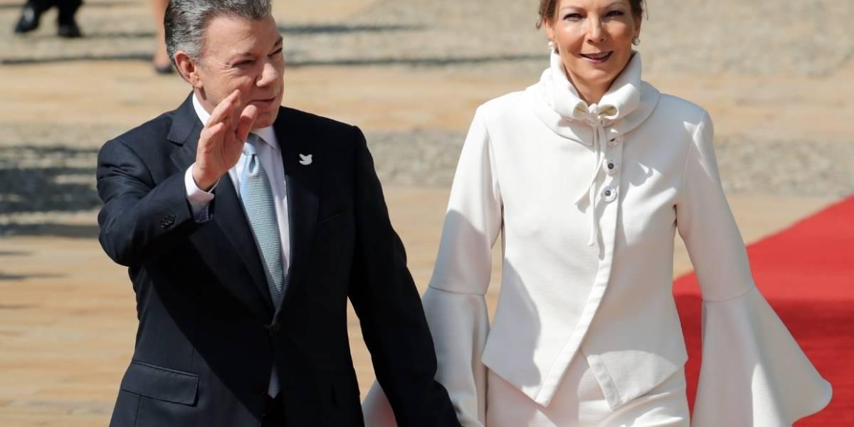 'Tutina' impone su elegancia durante la visita del papa Francisco