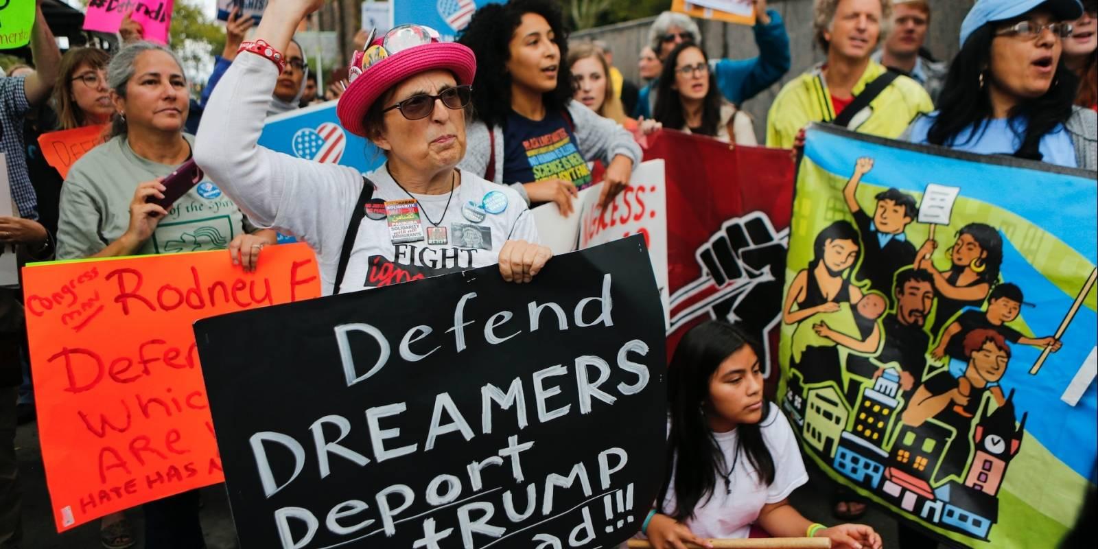 """Protestas en favor de la defensa del """"Daca"""" en Nueva Jersey."""