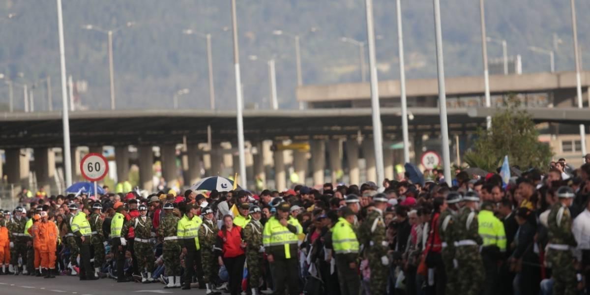 El caos en la movilidad por los cierres viales para ver hoy al papa en Bogotá