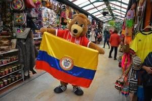 Mascota del Bayern Múnich estuvo en Bogotá