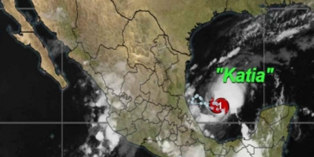 Huracán Katia se forma en la costa del Golfo de México