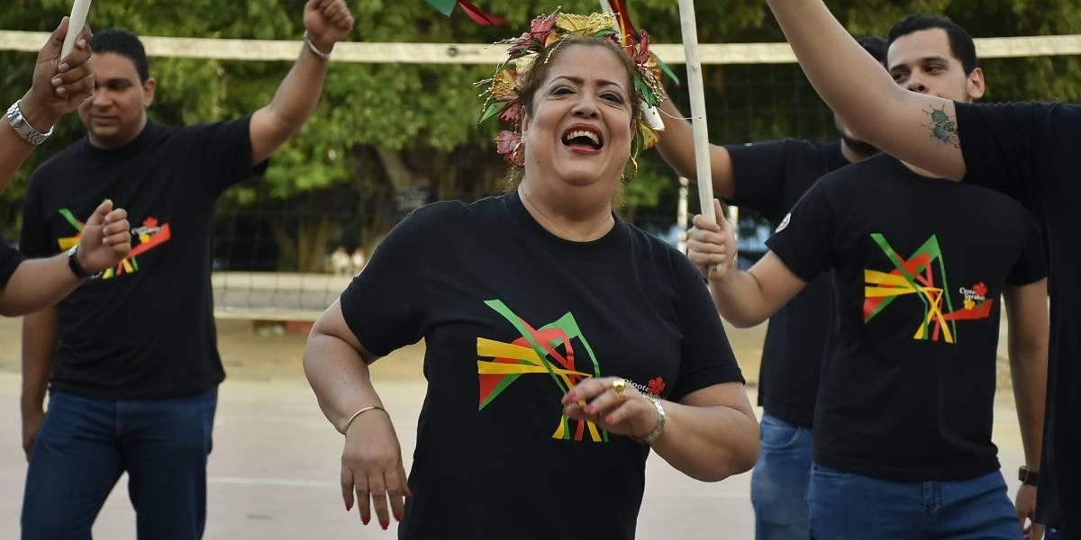 Tita Pernett, la carnavalera del Cipote Garabato, que despedirá al papa en Cartagena