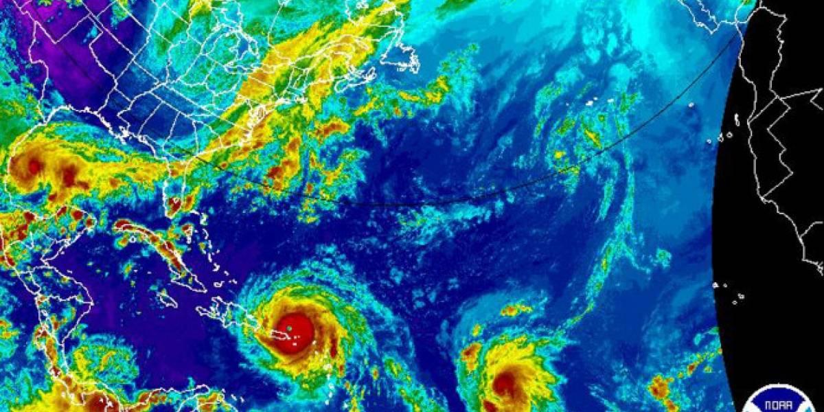 """La amenaza de """"José"""", """"Katia"""" e """"Irma"""": Así se ven los tres huracanes que avanzan simultáneamente por el Atlántico"""