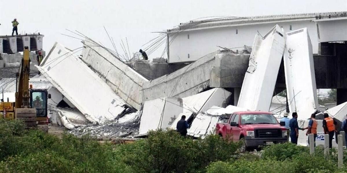 Colapsa tramo de puente vehicular que conectará al NAICM