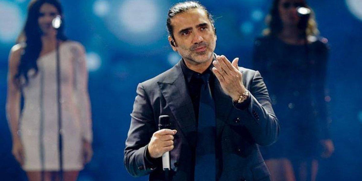 Alejandro Fernández vivió el terremoto durante su concierto y no le impidió seguir cantando