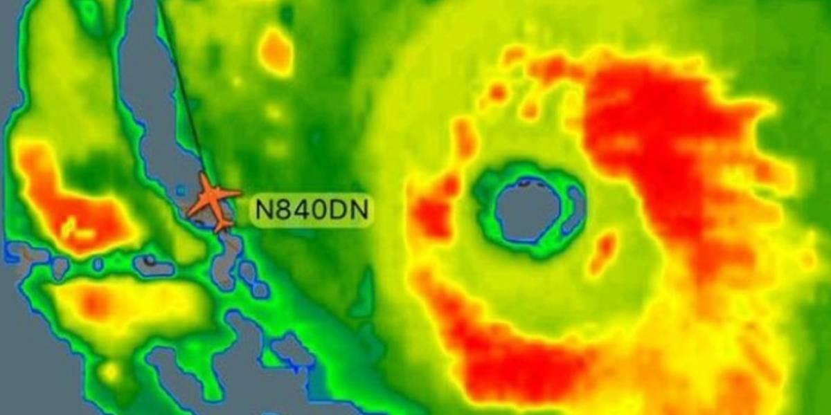 """El vuelo más peligroso de la historia: avión se enfrentó dos veces al huracán Irma y logró sobrevivir al """"monstruo"""""""