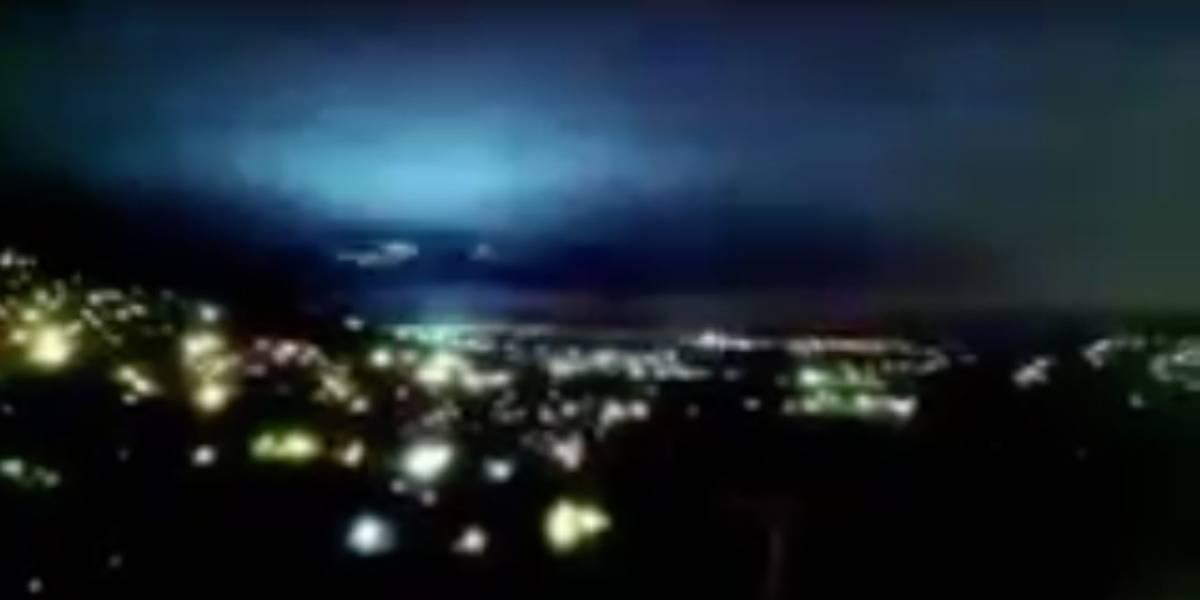 """Las impresionantes luces que """"llenaron"""" el cielo en México durante el terremoto 8,1"""