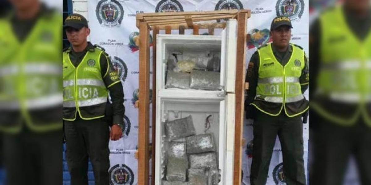 Hallan más de 16 mil dosis de marihuana y cocaína escondidas en una nevera