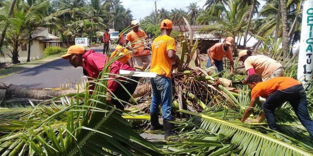 MOPC restablce el tránsito en la carretera Nagua-Cabrera-Río San Juan