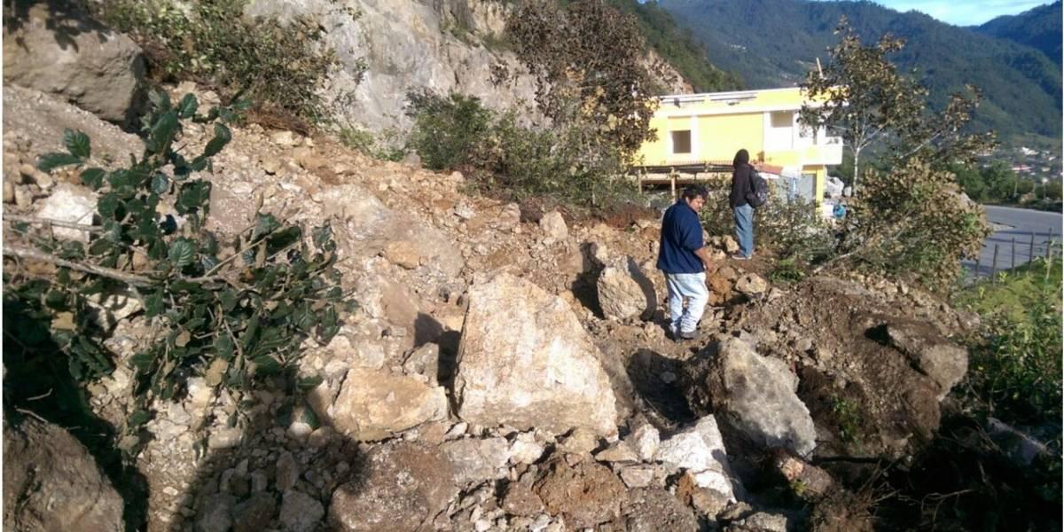 VIDEO. Captan el momento de un enorme deslizamiento en Huehuetenango