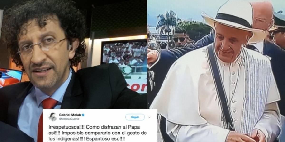 ¿Disfrazaron al papa? Las críticas del periodista que sacaron chispas a los paisas
