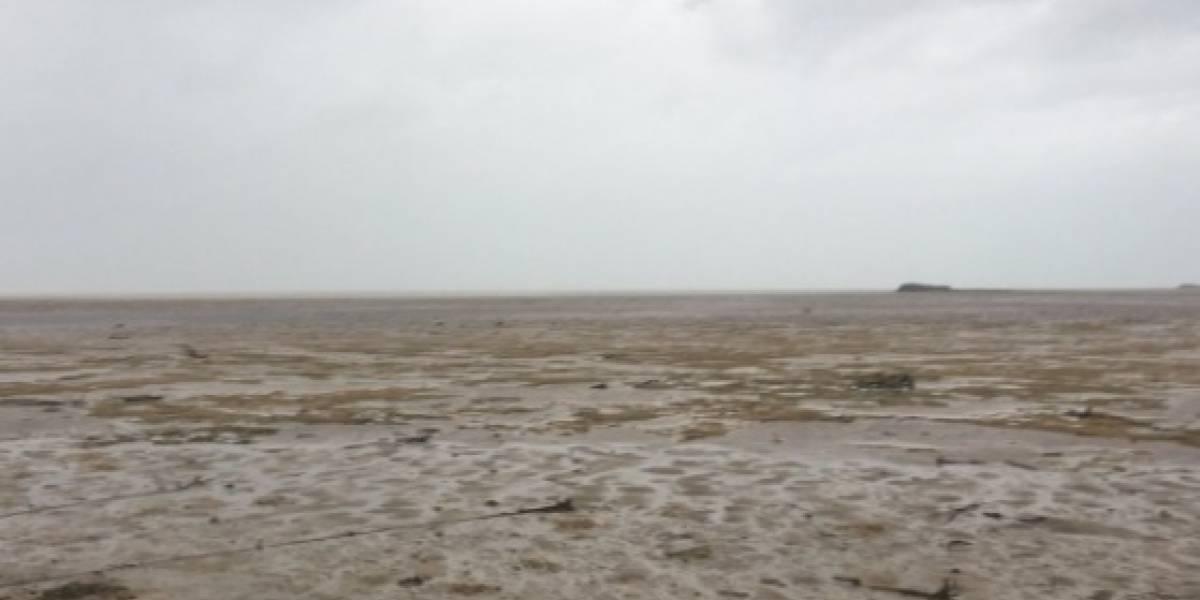 """El huracán Irma se """"tragó"""" el mar en su paso por Bahamas"""