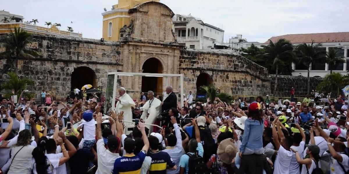 Desde Cartagena el papa Francisco pidió por Venezuela