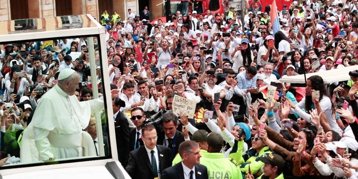 Así fue el último recorrido del papa en Bogotá