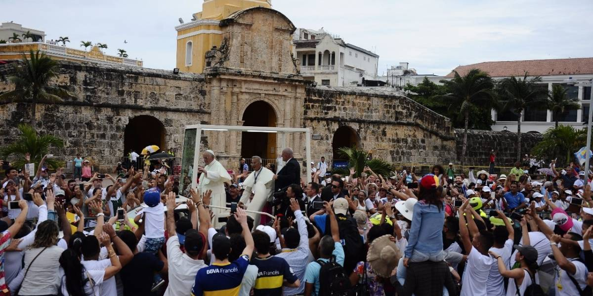 Así bromeó el papa Francisco sobre el golpe que recibió en Cartagena