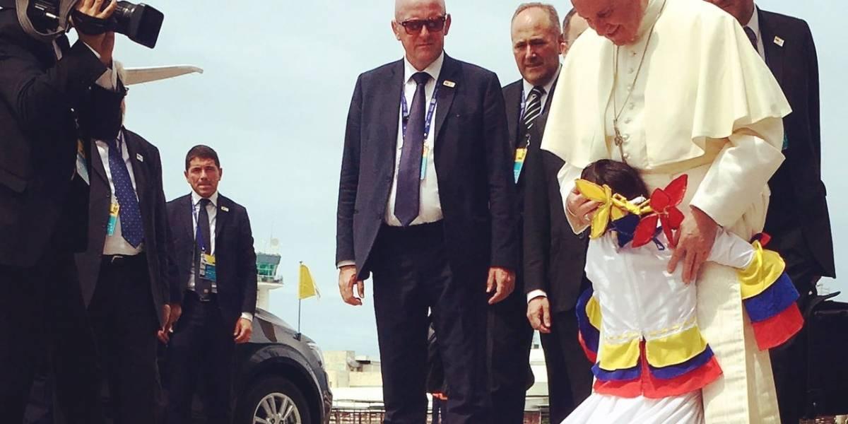 El Papa se accidentó en su último día en Colombia