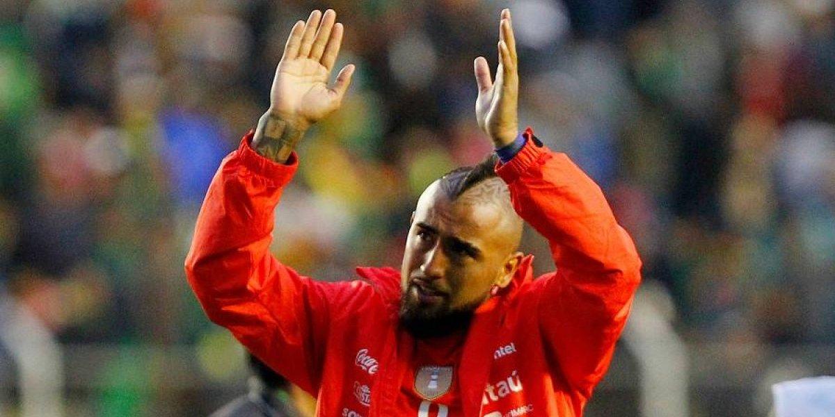 Arturo Vidal recibió una especial visita en Alemania