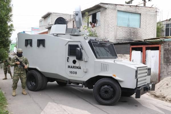 Marinos en operativo en Tláhuac