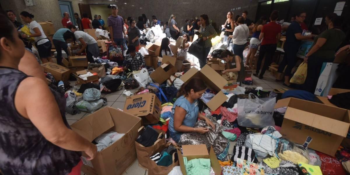 Cientos llevan artículos al Hima de Caguas para afectados de St. Thomas