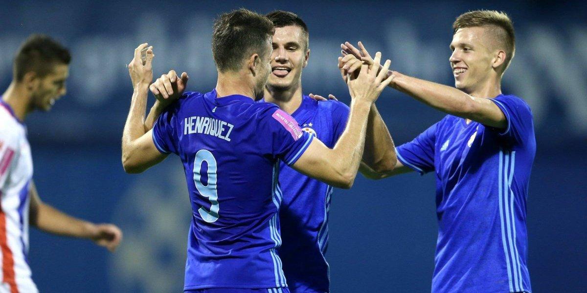 Ángelo Henríquez anotó de penal en la victoria del Dinamo Zagreb