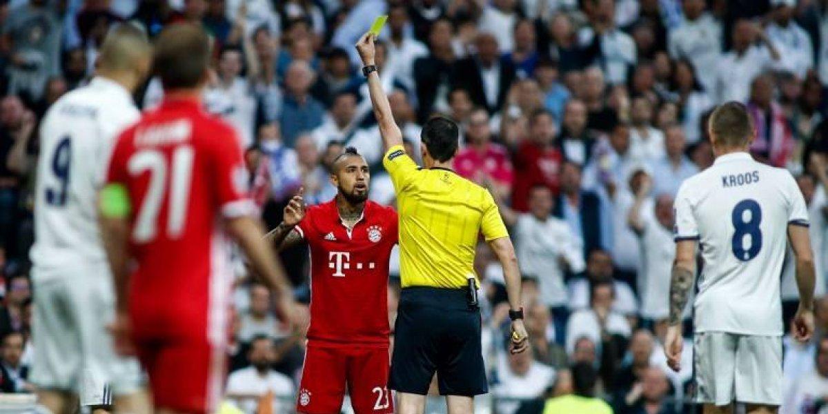 El suspendido Arturo Vidal se perderá el debut del Bayern en la Champions League