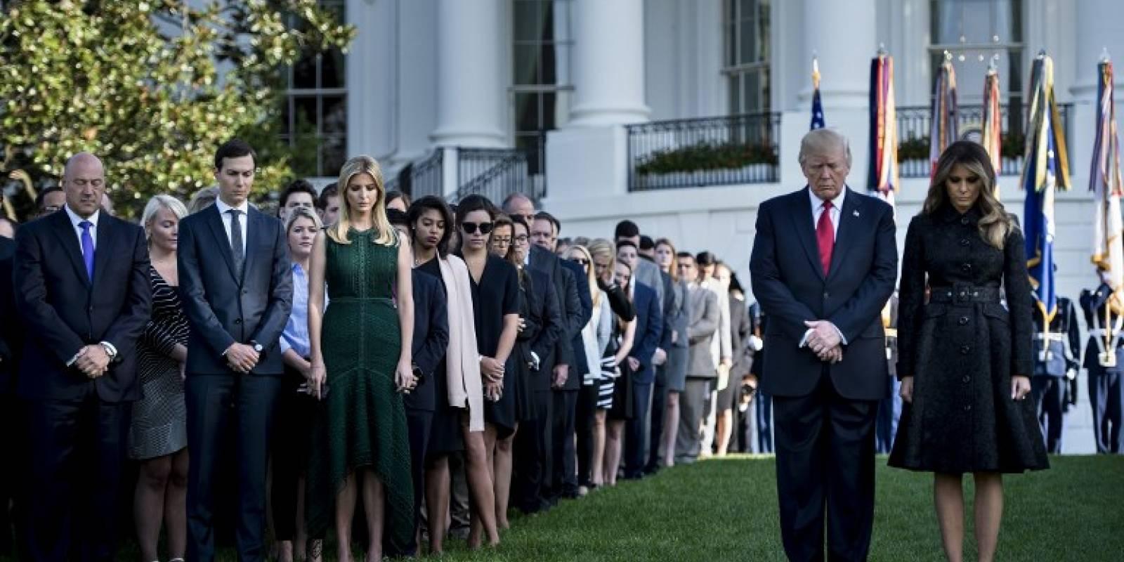 11 de Septiembre: Trump guarda un minuto de silencio por atentados