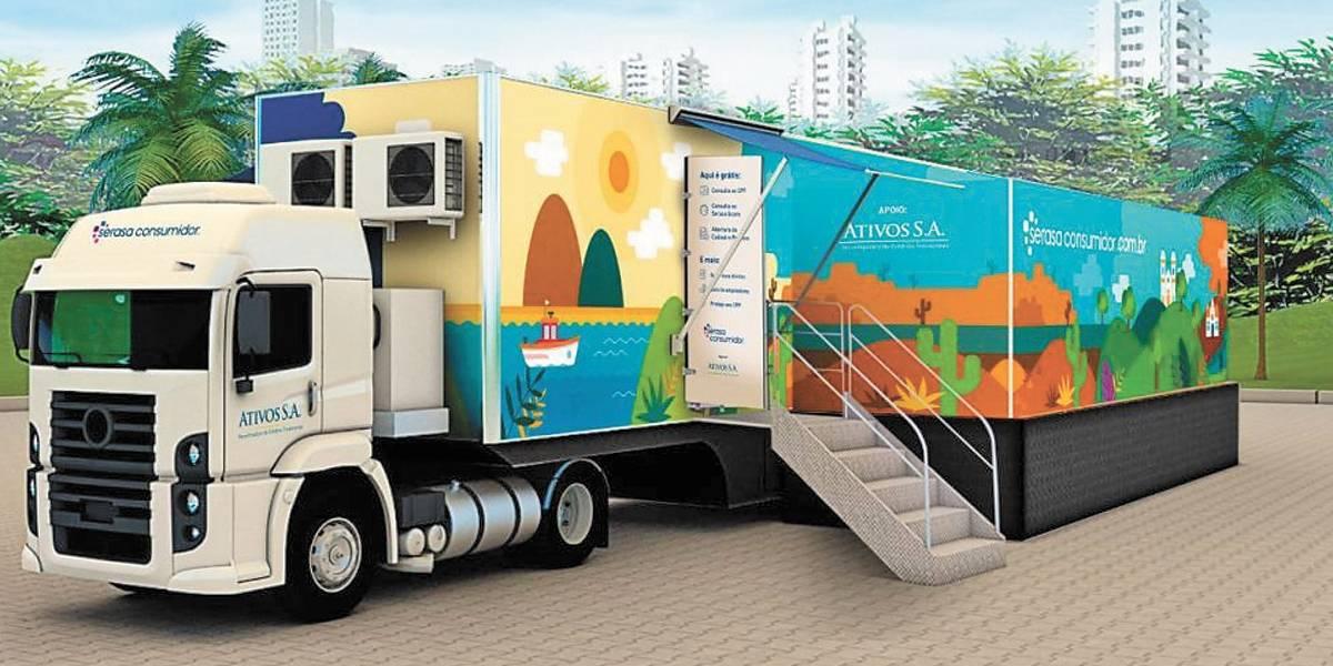 Caminhão do Serasa chega a Guarulhos com serviços gratuitos