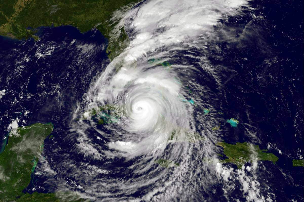 La NASA captó el espeluznante rostro dentro del huracán Irma