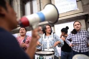 Manifestaciones en afueras del Congreso