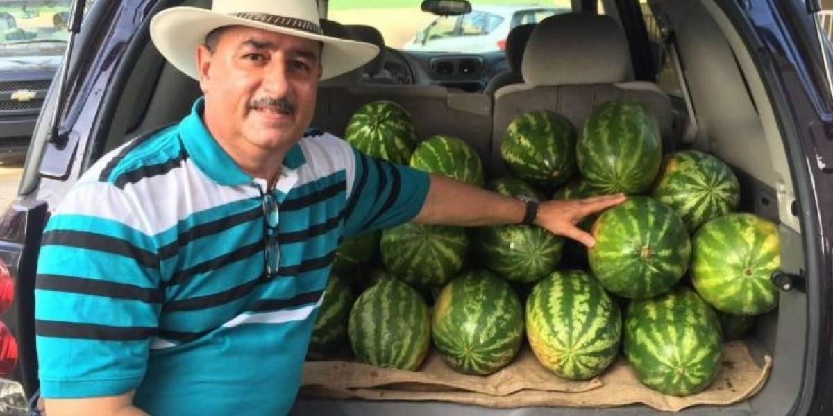 Reciben a refugiados con frutas del país