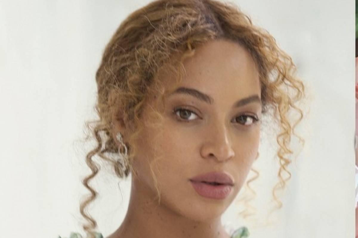 Sobrancelhas no ponto: as sobrancelhas de Beyoncé estão sempre bem marcadas e desenhadas, porém continuam com aspecto natural. Para conseguir este efeito, Sir John usa cola escolar em bastão escolar como gel para sobrancelhas   Reprodução