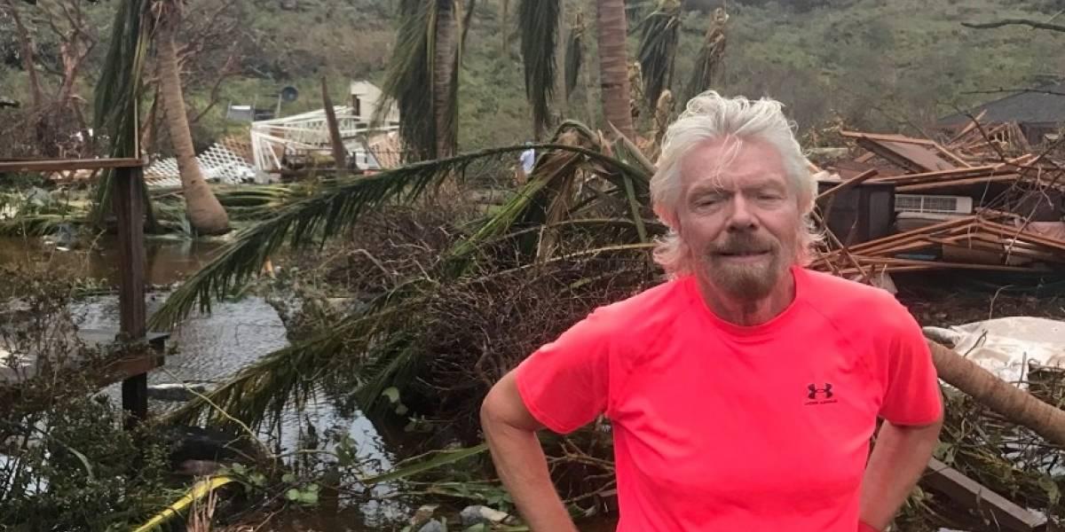 Multimillonario británico busca ayuda en P.R. para afectados por Irma