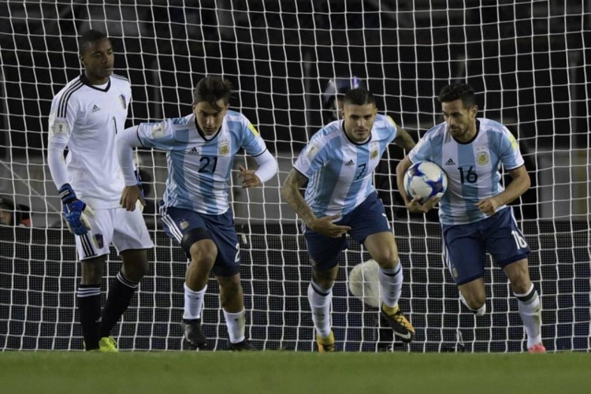 Argentina quiere festejar para no quedarse fuera del Mundial de Rusia 2018 / imagen: AFP