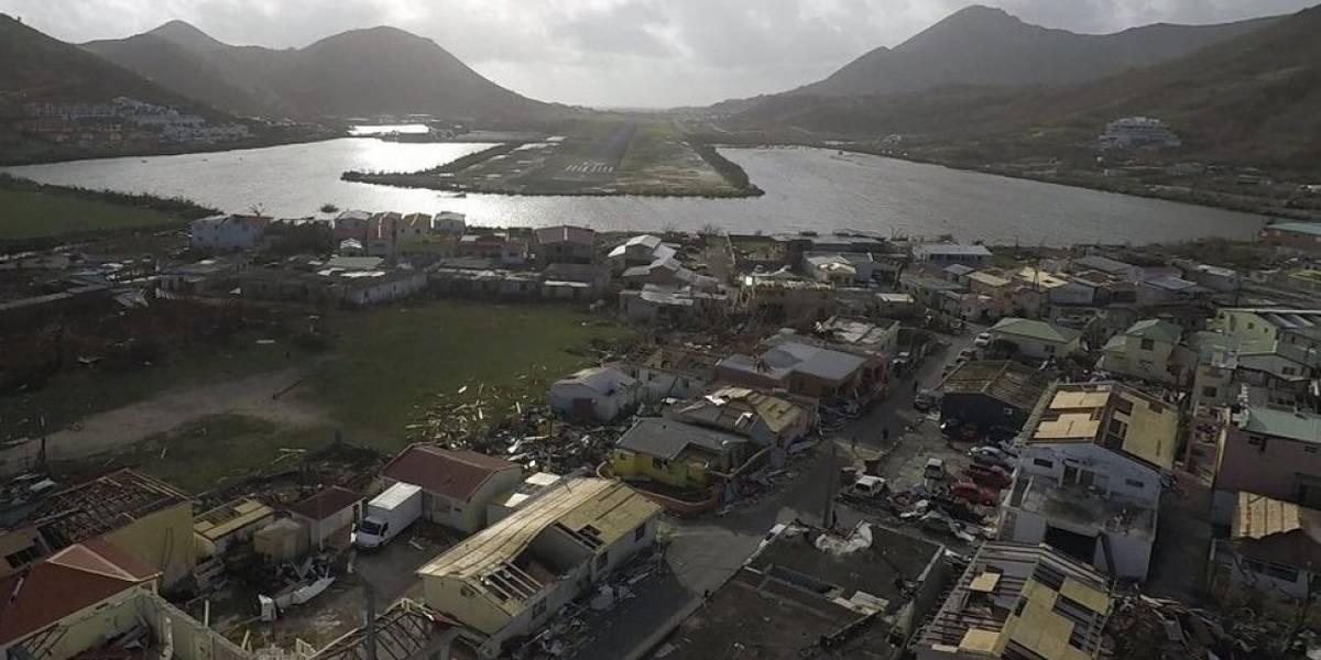 """Destrucción en San Martin es """"peor que una zona de guerra"""" según rey holandés"""