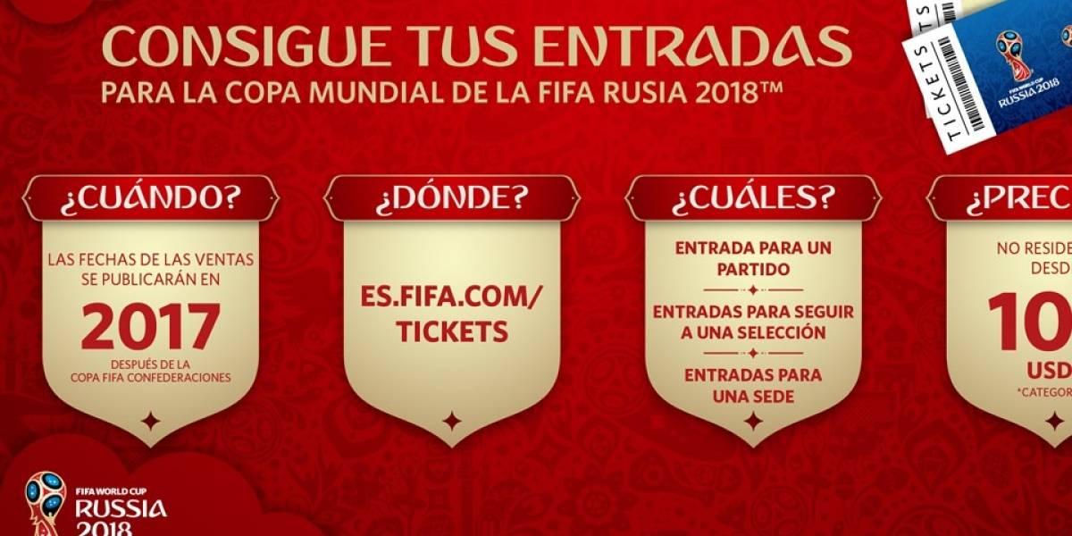 El jueves inicia la venta de entradas para Rusia 2018