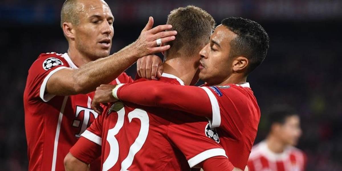Bayern Munich debutó con una cómoda victoria sin Vidal en la Champions League