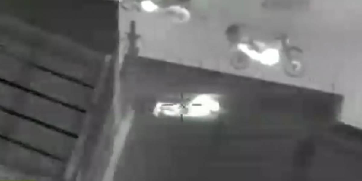 Ladrón quiso fugarse por los tejados de una bodega, pero helicóptero de la Policía lo atrapó
