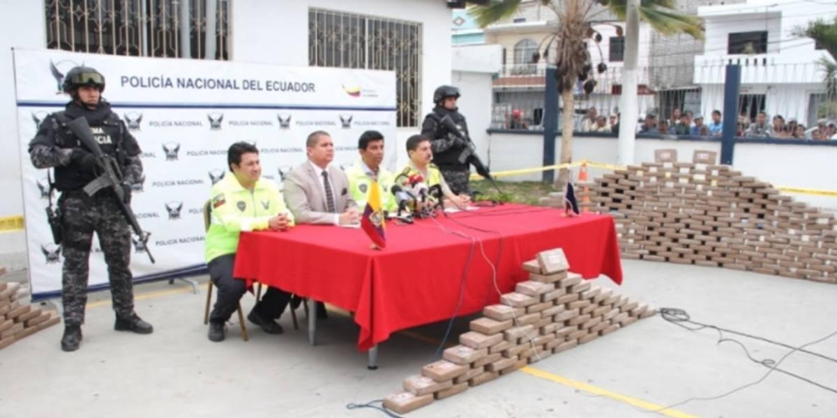 Más de una tonelada de cocaína se incautó en Santa Elena