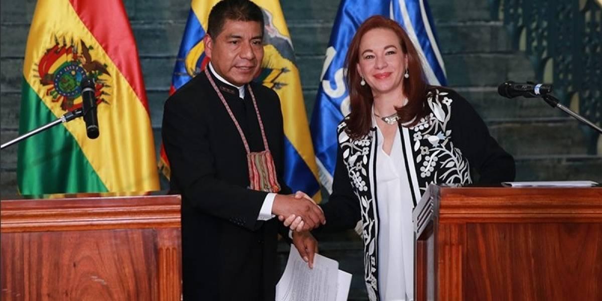 Ecuador y Bolivia firman acuerdo para fortalecer relaciones