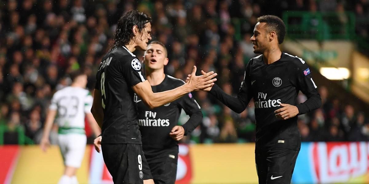 Neymar e Cavani brilham e garantem vitória do PSG na Liga dos Campeões